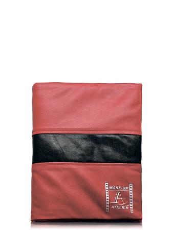 Make-Up Atelier Paris Чехол для кистей №2 красный с черной строчкой
