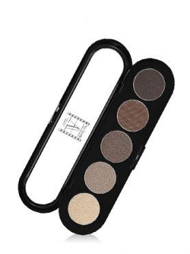 Make-Up Atelier Paris Palette Eyeshadows T24 Urban grey Палитра теней для век №24  серо-бежевые перламутровые тона