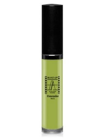 Make-Up Atelier Paris Fluid Concealer Olive FLWACV2 Olive green Корректор-антисерн флюид водостойкий CV2 зеленый оливковый