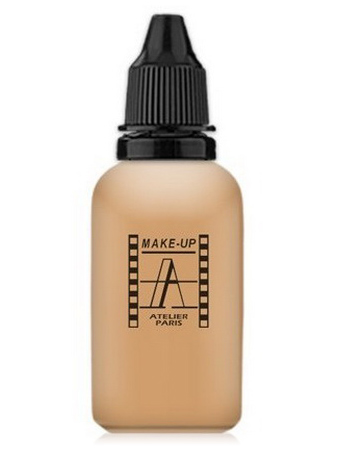 Make-Up Atelier Paris HD Fluid Foundation Beige AIR3B Natural beige clear Тон-флюид водостойкий для аэрографа 3B бежевый натуральный