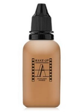 Make-Up Atelier Paris HD Fluid Foundation Beige AIR4NB Natural beige honey Тон-флюид водостойкий для аэрографа 4NB нейтральный бежевый